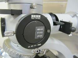 Zeiss Fluorescence Microscope Power Supply 5 Objective Lens Neofluar Darkfield
