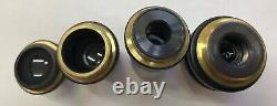 Zeiss Microscope OBJECTIVE SET of FOUR in MINT Condition aus Jena lens lenses #A