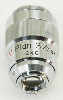 10826 Lentille Objectif M Nikon 3x Microscope Plan 3 / 0.07 240