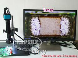 40x-400x-800x Microscope De Lumière Parallèle Zoom C-mount Objectif + Aux Barlow Us
