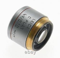 C Plan 4x/0.10 Lens Objectif Excellent 506074 Leica DM Laboratoire Microscope