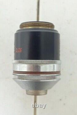 Carl Zeiss Allemagne 4468721 Pol Plan 2.5/0.08 160/- Microscope Objectif