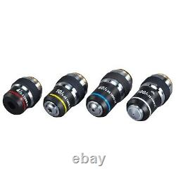 Définir Achromatic Compound Microscope Objective Lenses Din 4x-10x-40x-100x