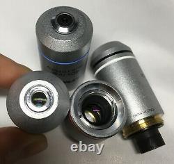 Ensemble De 4 Objectifs Infinis Olympus Microscope Rms Fil Pour Cx22 Cx23