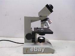 Fisher Scientific Micromaster Model E Microscope Binoculaire & 4 Objectifs