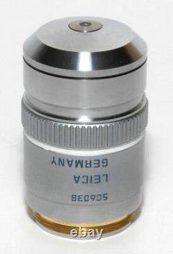 Leica Pl Apo 100x 1,40 0,70 Iris /0,17/d Objectif Microscope DIC Bf M25