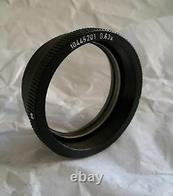 Leica Wild 0.63x Lens Objectif Mz Ms Mz6 Ms5 M3z Microscope Wd=149mm Testé