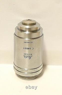 Leitz Plan Pl 160x Microscope Objectif Objectif Lens /0 Infinity Corrigé Allemagne