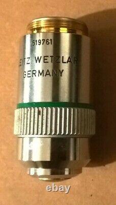 Leitz Wetzlar 25x Objectif, Ef 25/0.50 160/0.17 Microscope Lens Laborlux Mikros