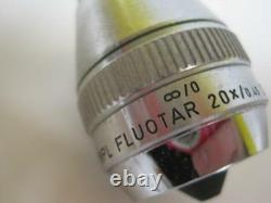 Leitz Wetzlar Npl Fluotar 20x/. 045 Objectif De Microscope À Infinité Df 569234