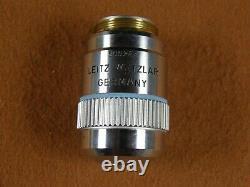 Leitz Wetzlar Plan L 50x / 0,60 Objectif Microscope Lentille Infinity Longue Distance