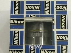Lentille Objectif Microscope Nikon Cf Fluor 10x Na 0,50 Pour Microscopes Finis