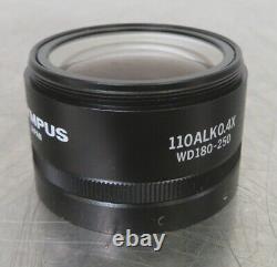 Lentille Objective Microscope C160934 Olympus 110alk0.4x (0.4x, Wd180-250)