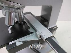 Microscope Binoculaire Leitz Wetzlar Hm-lux Avec 4 Lentilles Objectives Qualité Allemande