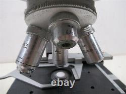 Microscope Binoculaire Leitz Wetzlar Hm-lux Avec Objectifs Et Lunettes