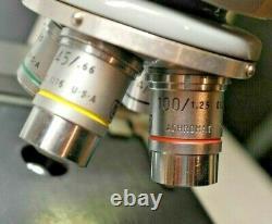 Microscope Binoculaire Optique Américain Avec Objectifs Acromat