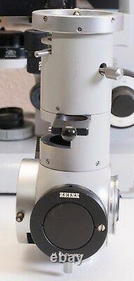 Microscope Carl Zeiss Standard Pour Fluoroscopie. Sans Lentilles Objectives