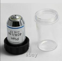 Microscope Composé 4x 10x 40x 100x Infinity Plan Achromatic Objective Lens Set