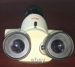 Microscope Leica Mz6 Stéréo Avec Éléments Oculaires Et Objectif Lens Voir Desc