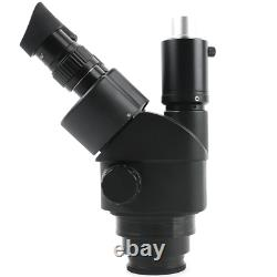 Microscope Stéréo Trinoculaire Noir Simul-focal 3.5-90x Zoom Barlow Objectif Len