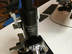 Microscope Vintage Leitz Avec Quatre Lentilles Objectives Et Boîtier