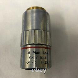 Mitutoyo M Plan Apo 5x /0,14 F=200 Objectif Microscope