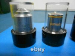 Nikon 4/0.10 160/0.17 Objectif Objectif Microscope Et Autres Lens Lot De 6