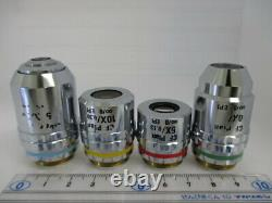 Nikon Cf Plan Epi 5x 10x 20x 50x Infinity Microscope Ensemble D'assortiment De Lentilles Objectives