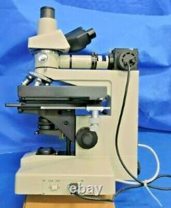Nikon Optiphot Microscope Trinocular X-y Stade Réfléchi Lentilles Objectif Lumière