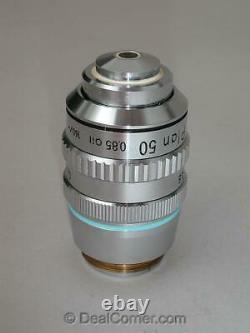 Nikon Plan 50x Oil Microscope Objectif Objectif 160mm Avec Iris Optiphot Labophot