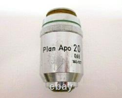 Nikon Plan Apo 20x 0.65 160/0.17 Objectif Objectif Du Microscope Rms Apochromatique