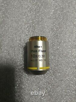 Nikon Plan Fluor 10x/0.30 Opn25 DIC L/n1 Mrh00101 Objectif Du Microscope