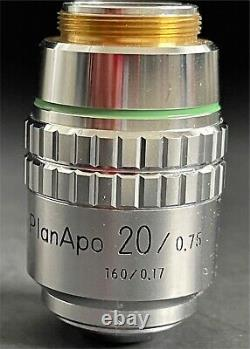 Nikon Planapo Cpn 20x 0.75 160mm Objectif Microscope Lens Mint Condition