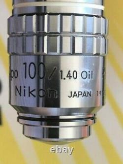 Objectif Microscope Nikon Cf Plan Apochromat 100x Na 1,40 Pour Fini 160