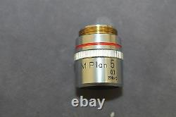 Objectif Objectif Nikon M Plan 5x 0.1 210/0 Microscope