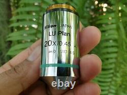 Objectif Objectif Nikon Microscope Lu Plan 20x/0.45 A /0 Epi, Wd 4.5