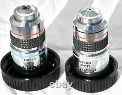 Olympus A40pl Et A100pl Pl Microscope Objectif Lens Set Authentique
