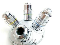 Olympus Microscope Ms Plan 5 10 20 50 Objectif Objectif Fixé Avecpol Nosepiece Turret