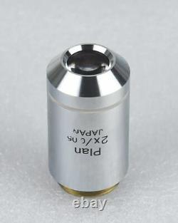 Olympus Microscope Objectif Plan 2x /0.05 Lentille Infinity, Fabriqué Au Japon