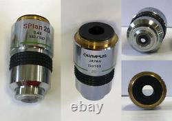 Olympus Microscope Objectifs Splan 6 Pcs (x2, X4, X10, X20, X40, X100)