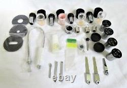 Olympus Microscope Objective Set (100, 40, 20, 10) & 4 Objectifs 3 Ampoules Case Full