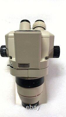 Olympus Microscope Trinoculaire Head Sz4045 Tr Sz40 + Objectif 0,5x #y-01