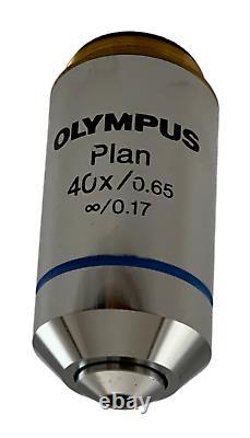 Olympus Plan 40x Na 0,65 Objectif Microscope Pour Bx CX IX