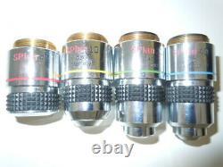 Olympus Splan Plan 4x 10x 20x 40x Microscope Objectif Lot Assorti Ensemble