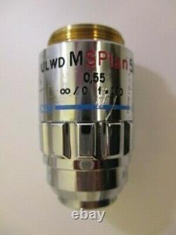 Olympus Ulwd Msplan 50x 0,55 Infinité,0 F=180 Microscope Objectif Lens Splan