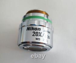 One For Nikon Microscope Cf Plan 20x/0.35 Slwd /0 Wd 20.5mm Epi Objectif Objectif