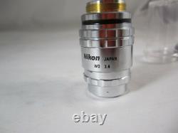 Plan Des Fc Nikon 1.5x /. 045 Epi Infinity Microscope De Faible Puissance Objectif