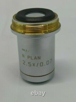 Plan Leica N 2,5x / 0,07 / Objectif Microscope De Laboratoire 506083