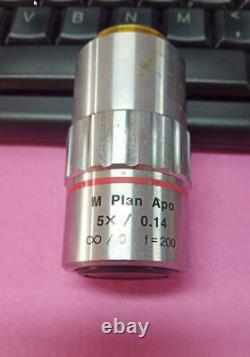 Plan Mitutoyo M Apo 5x 0.14 Objectif Du Microscope F=200