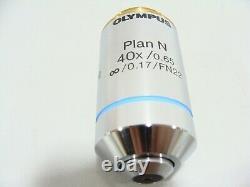 Plan Olympus N 40x / 0.65 Infinity. 17 Fn22 Uis2 Microscope Objectif Lentille Bx CX